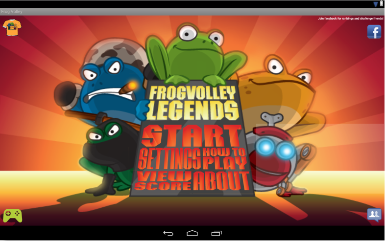 Frog Volley - screenshot