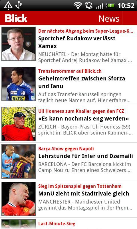 Blick Fussball - screenshot