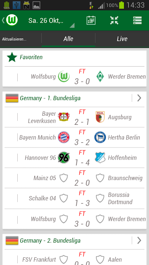VfL Wolfsburg App - screenshot