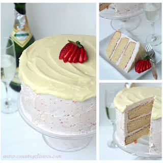 Strawberries and Champagne Cake.