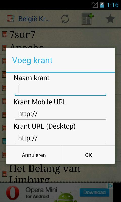 België Kranten - screenshot