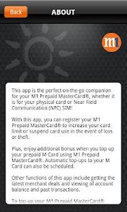 M1 Prepaid MasterCard- screenshot thumbnail