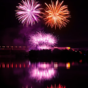 Fireworks 2013 in Pilsen 12 by Martin Zenisek - Abstract Fire & Fireworks ( mirror, water, pilsen, fireworks, night,  )