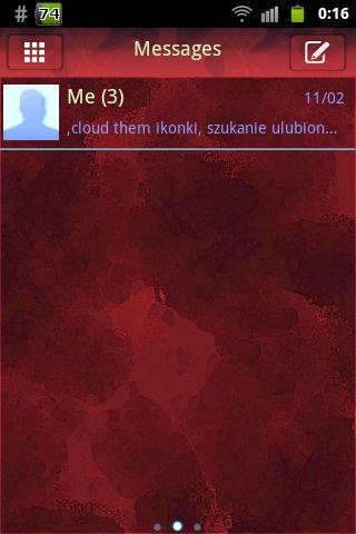 GO SMS Pro Theme Red Buy