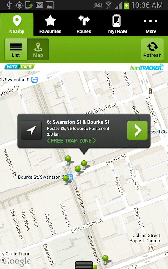 tramTRACKER - screenshot