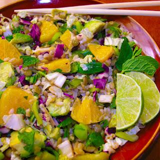 A New Year's lentil salad.