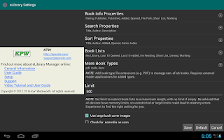 Screenshot of eLibrary Manager Basic