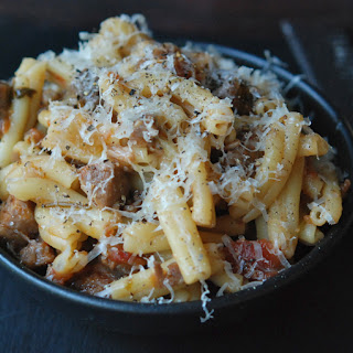 Pasta with Braised Pork, Red Wine & Pancetta