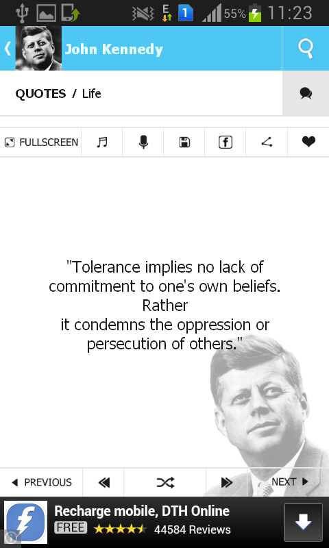 John Kennedy Quotes- screenshot