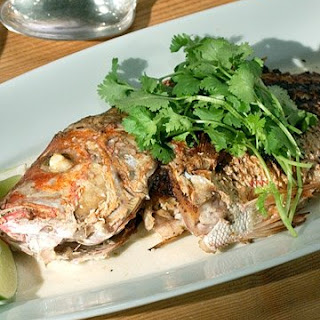 Whole Snapper with Balinese Spices.