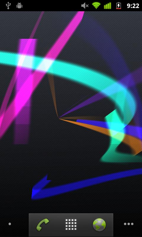 Ribbons Live Wallpaper- screenshot