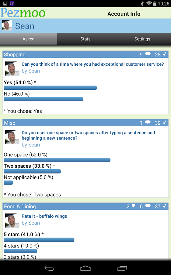 Pezmoo (Fun Social Polls) - screenshot