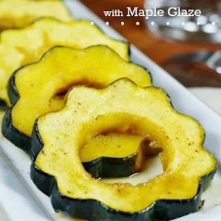 Baked Acorn Squash with Maple Glaze