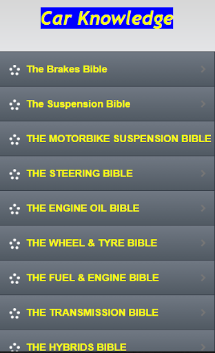 Car Bibles Knowledge