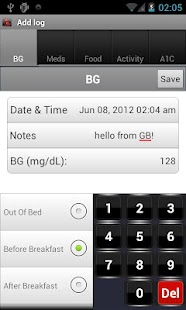 Glucose Buddy : Diabetes Log - screenshot thumbnail