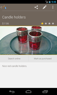 Wish list: Shopping buddy - screenshot thumbnail
