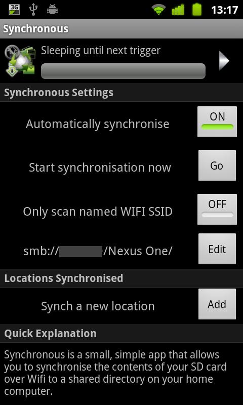 Synchronous Demo - screenshot
