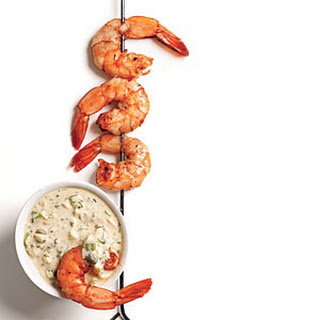 Cajun-Spiced Smoked Shrimp with Rémoulade.