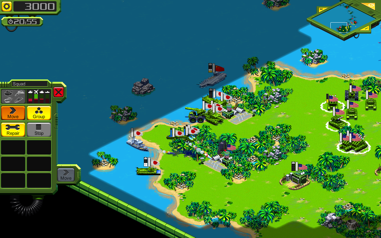 Tropical Stormfront - RTS- screenshot