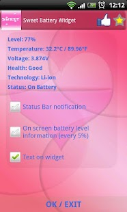 Sweet Battery Widget - screenshot thumbnail