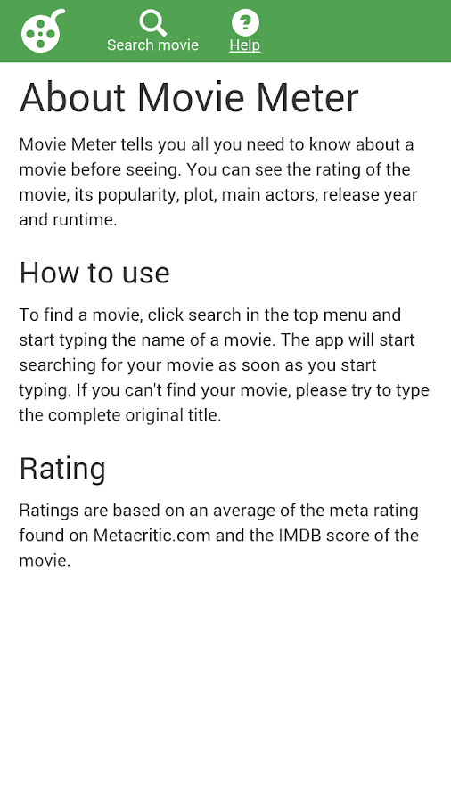Movie Meter- screenshot
