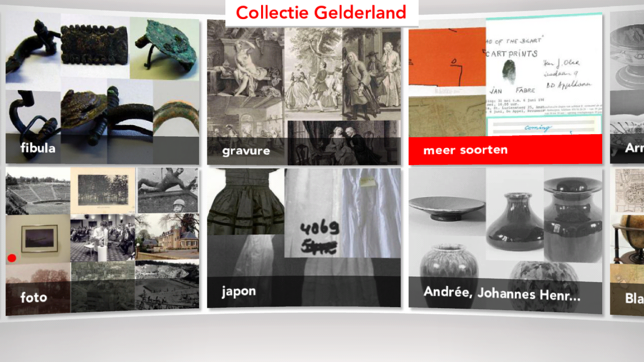 Collectie Gelderland- screenshot