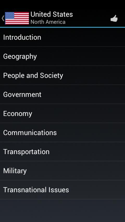 World Factbook- screenshot