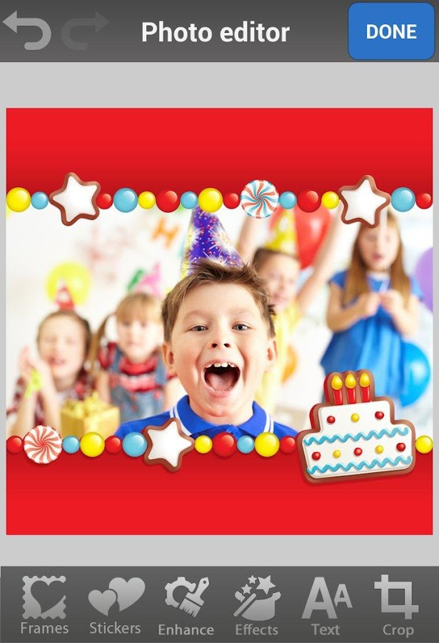 Birthday Photo Frames & Cards - screenshot