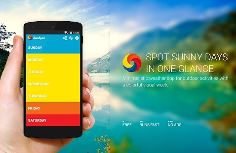 Sunspot: simple weekly weather screenshot
