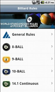 Official Billiard Rules Lite - screenshot thumbnail