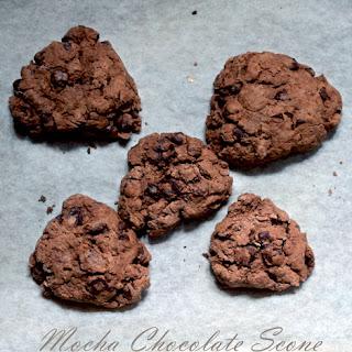Vegan Mocha Chocolate Chip Scones