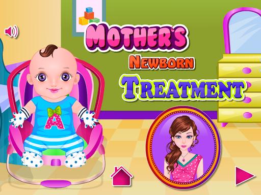 嬰兒治療的女孩遊戲