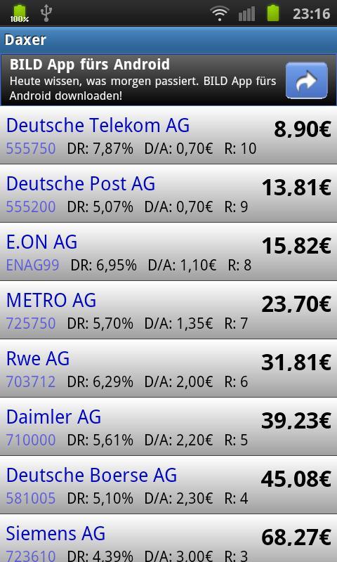Daxer - Dividende Low Five- screenshot