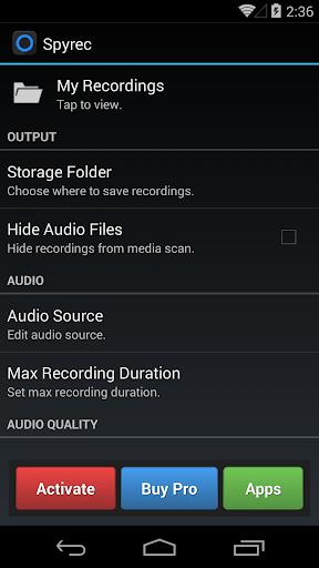 Spy Audio Recorder - Spyrec