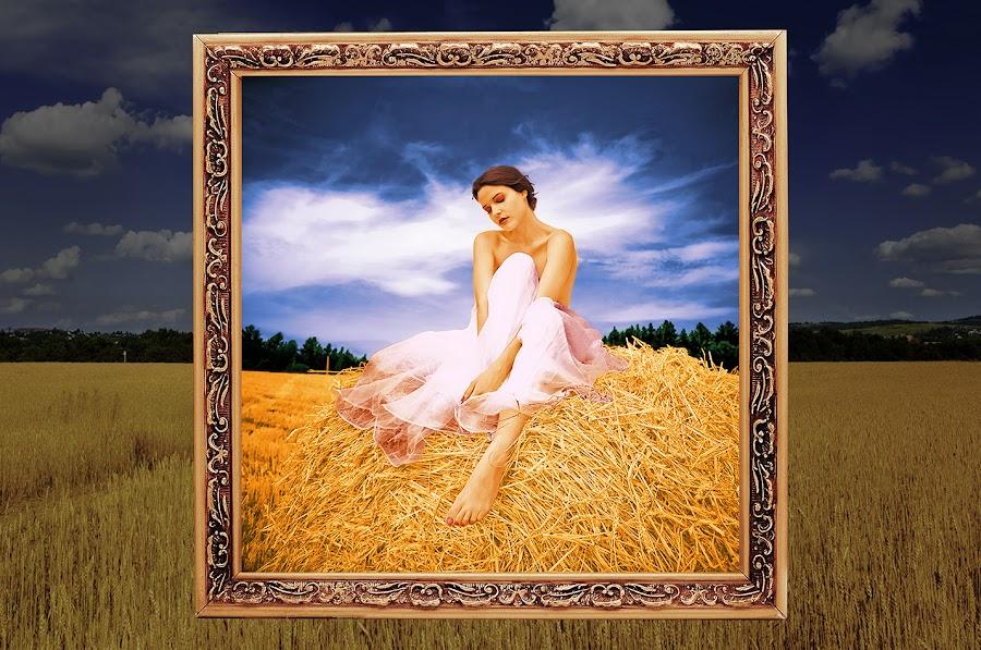 Wheat Girl by Nazir Gohar - Digital Art People ( wheat, model, fashion, nude, colorful, beautiful, art, nikon d90, hdri, girl, nature, female, digital art, photoshop,  )