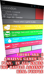 WordWarX Anagram Word Game - screenshot thumbnail