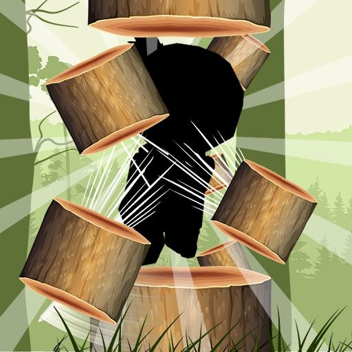 Chopping Logs - ninja LOGO-APP點子