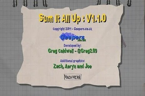 Sum It All Up- screenshot thumbnail