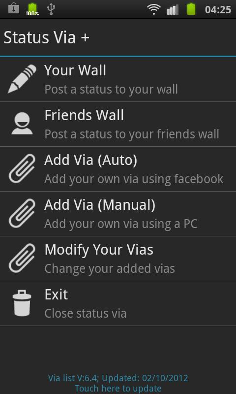 Status Via Free- screenshot