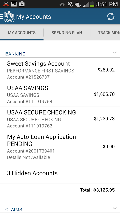 Usaa Car Loan >> USAA Mobile - screenshot