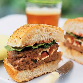 Stuffed Beef Burgers.