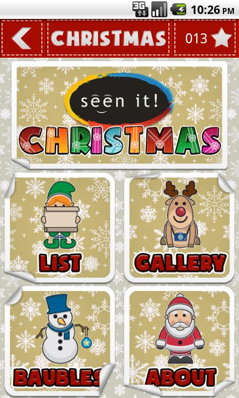 Seen It! Christmas (Lite) - screenshot