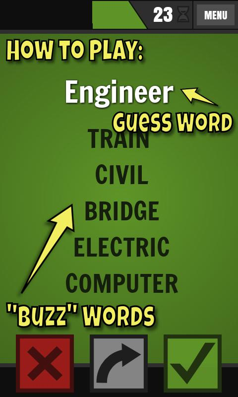 Buzzwords Lite - screenshot