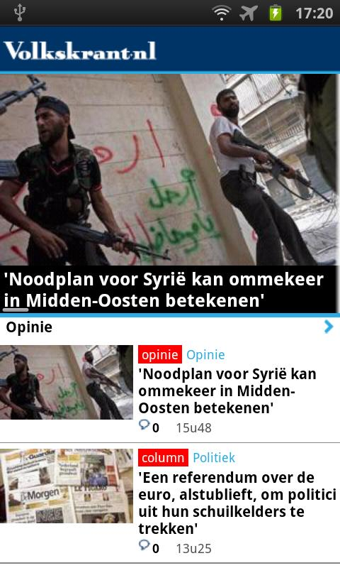 Volkskrant.nl Mobile - screenshot