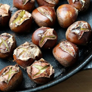 Oven Roasted Chestnuts with Spiced Melted Butter