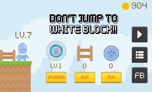 白ブロックにジャンプしない