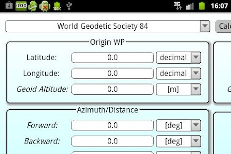 Geodetics Calculator - screenshot thumbnail