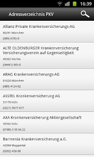 GKV & PKV Adressverzeichnis- screenshot thumbnail