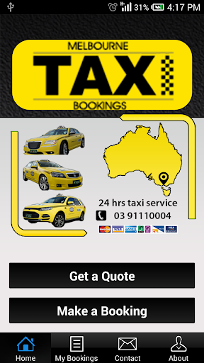 Melbourne Taxi Bookings