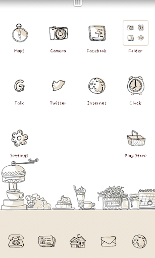 Sketch Cafe go launcher theme